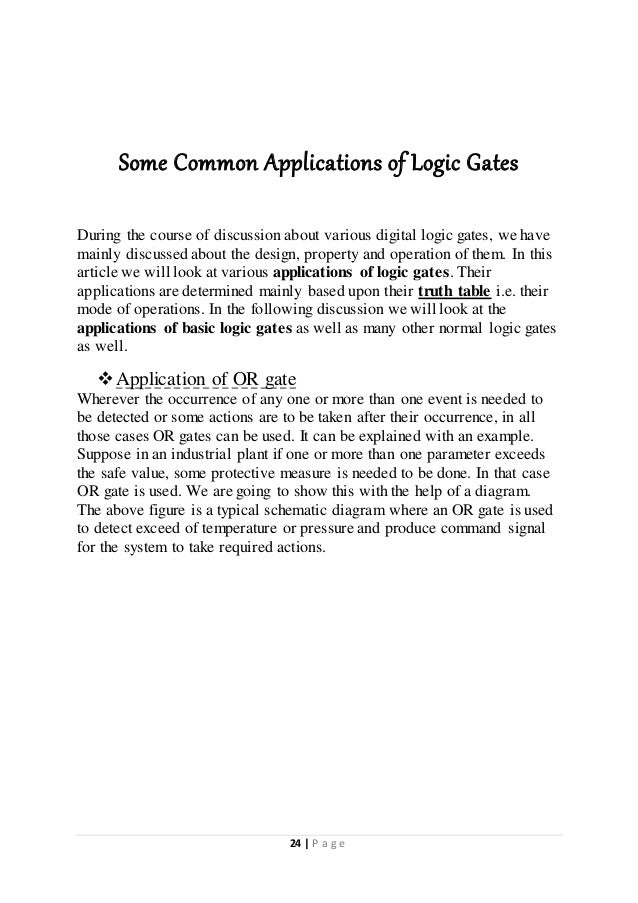 phy logic gate complete project Physics project (theory) - logic gates (class 12)- cbse uploaded by  different types of logic gate implements different boolean function, that is, it performs a logical operation on one.