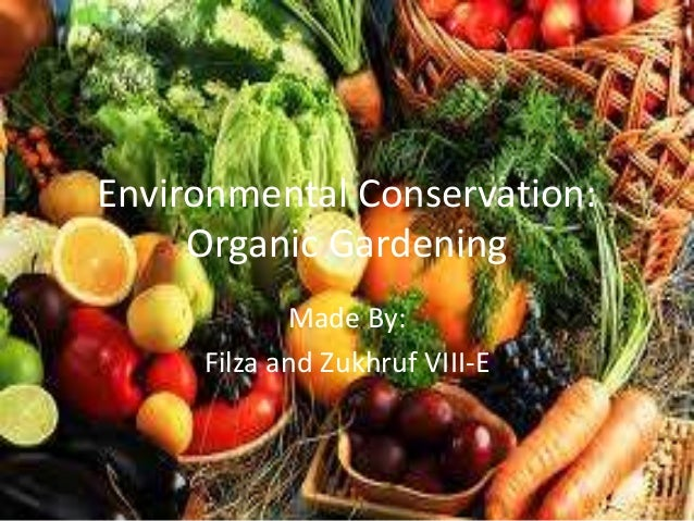 Environmental Conservation: Organic Gardening Made By: Filza And Zukhruf  VIII E ...