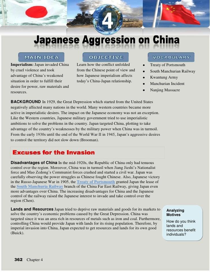 japanese imperialism on china