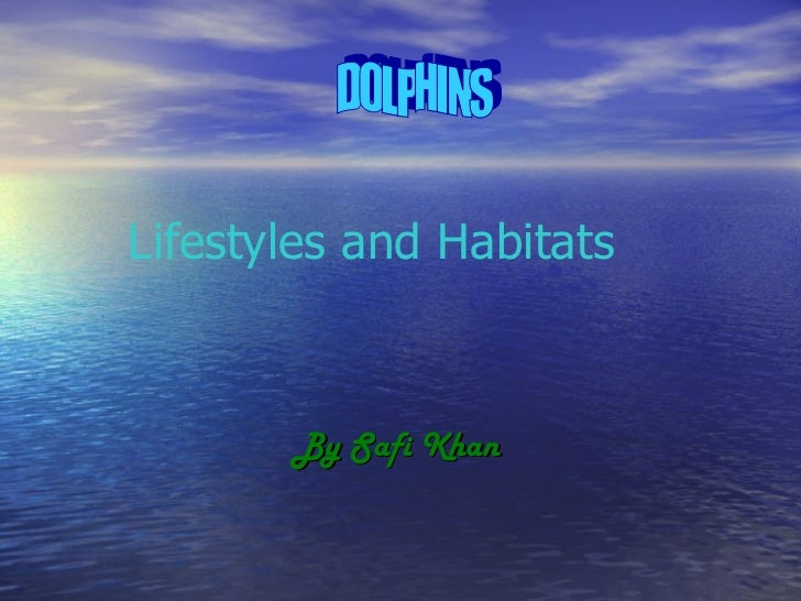By Safi Khan Lifestyles and Habitats DOLPHINS