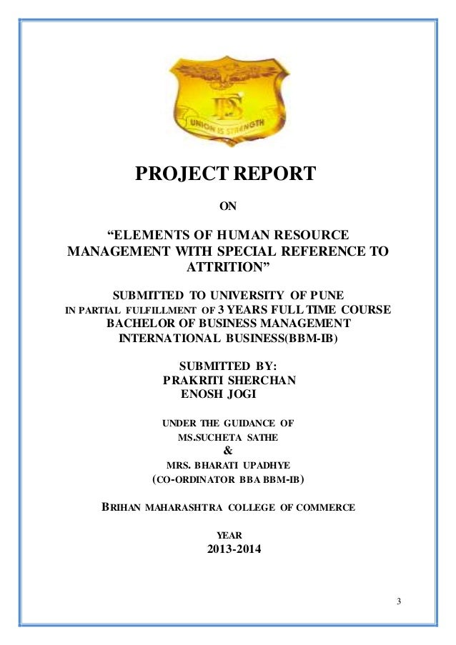 bbm project report
