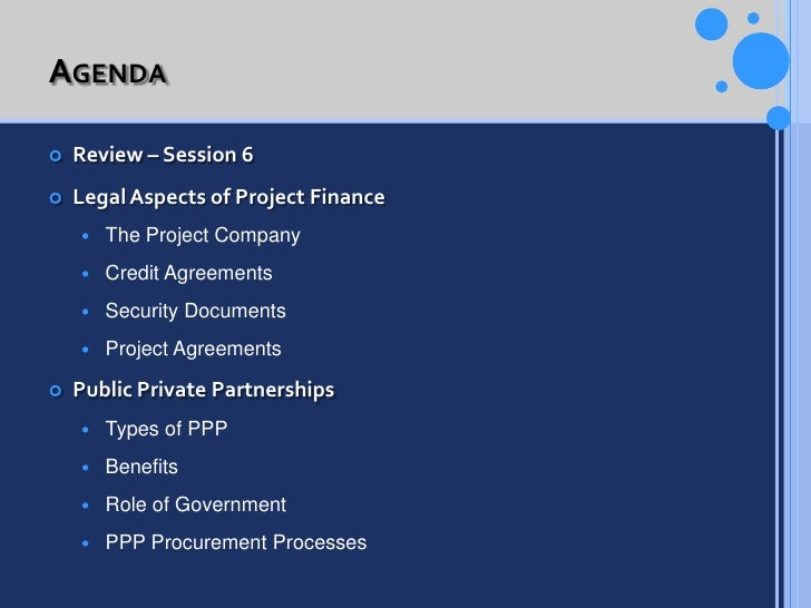 Project Finance Session 7