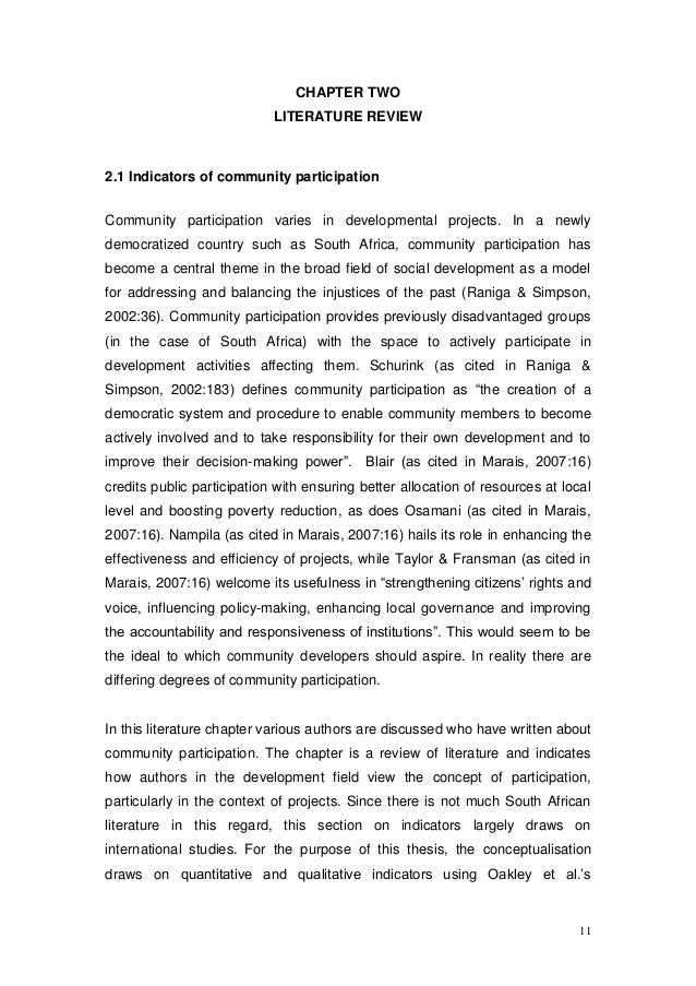thesis on community participation This thesis examines what community participation means in heritage management, particularly the notion of a meaningful participatory process in preservation the.