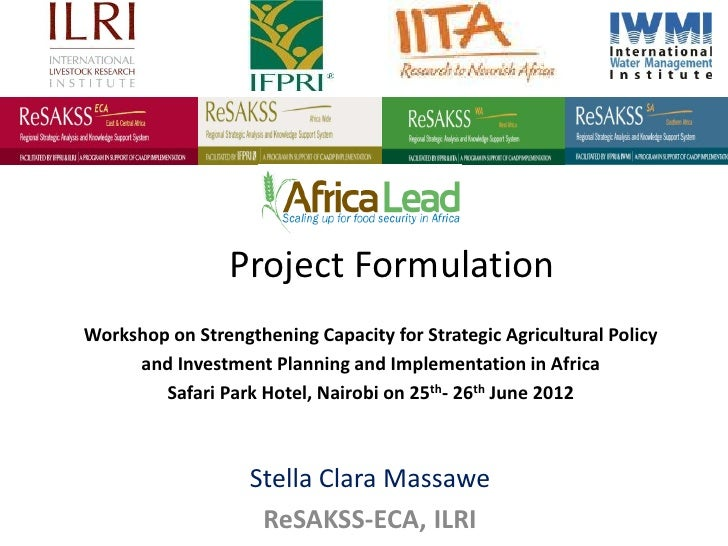 Project FormulationWorkshop on Strengthening Capacity for Strategic Agricultural Policy     and Investment Planning and Im...