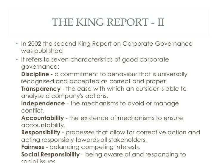 KING II REPORT EBOOK