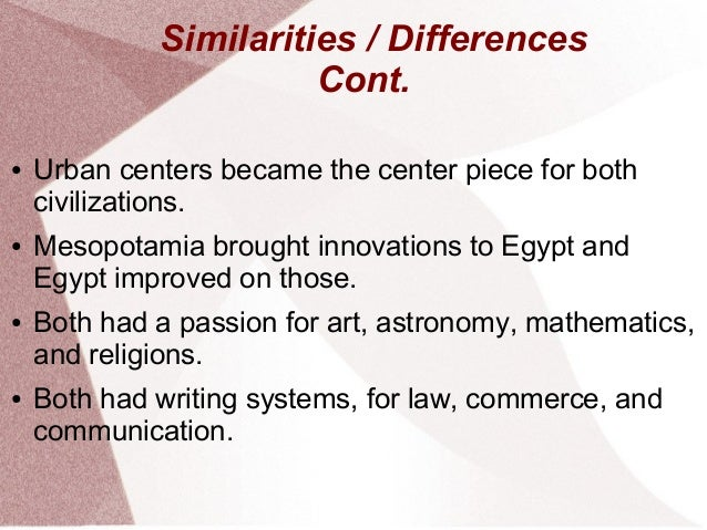 similarities between mesopotamia and egypt religion