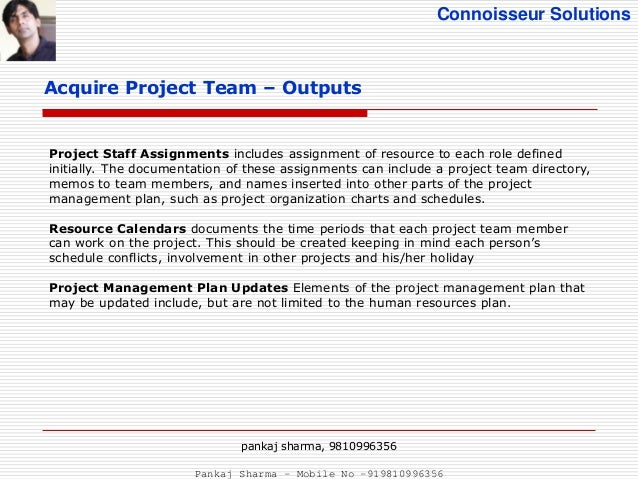 Project human resource management pmbok 5 for Resource directory template