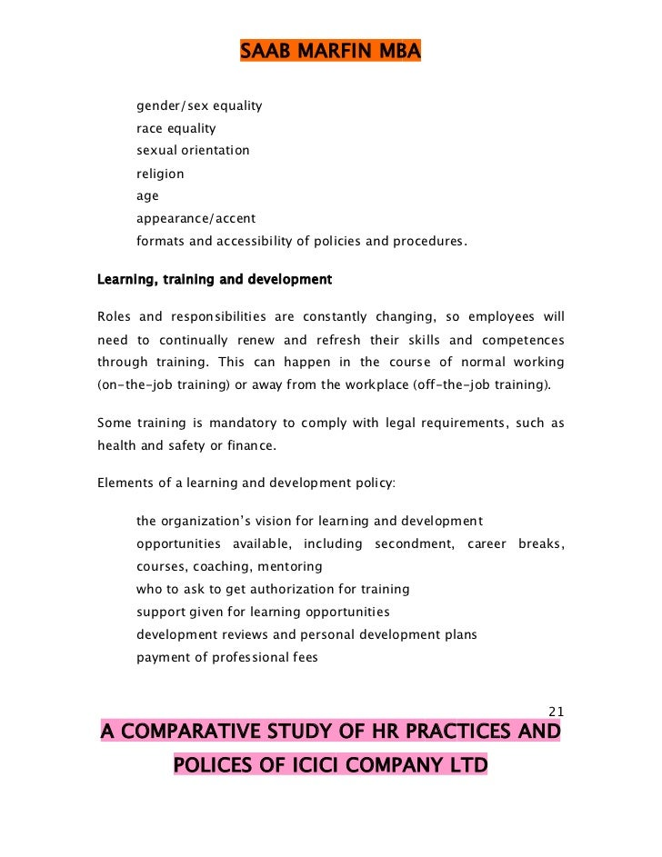comparative study of hr practices in Human resource policy and job satisfaction of employees in knowledge-based enterprises: a comparative study of the  although the hr policies at kiu a.