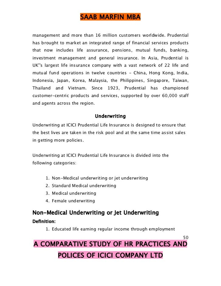 study of marketing of icici prudential International journal of marketing a study of financial performance: a comparative analysis of sbi icici lombard icici bank uk plc icici prudential life.