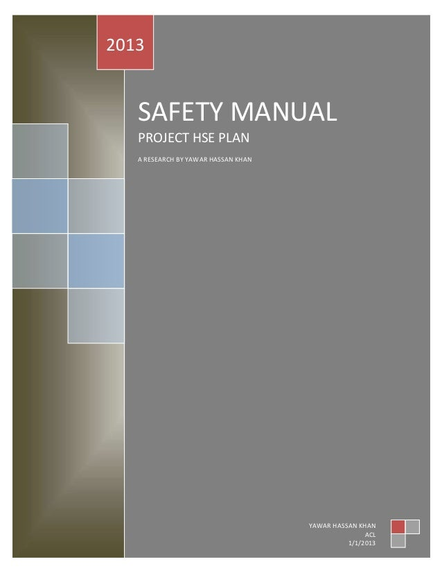Project hse plan – Sample Safety Manual Template
