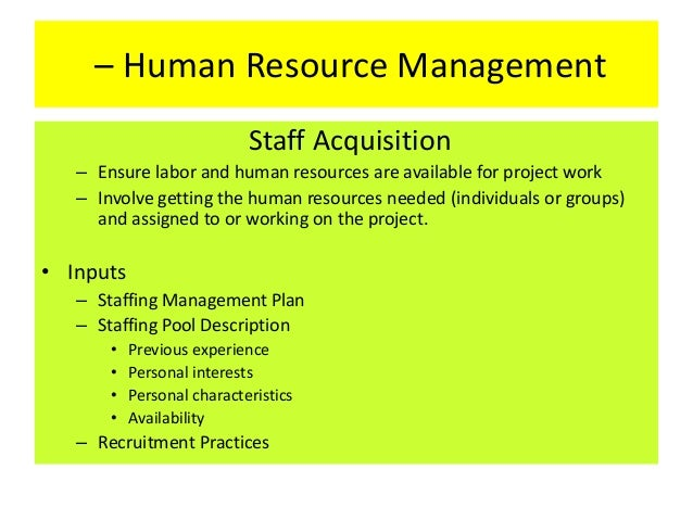 human resource management for construction projects