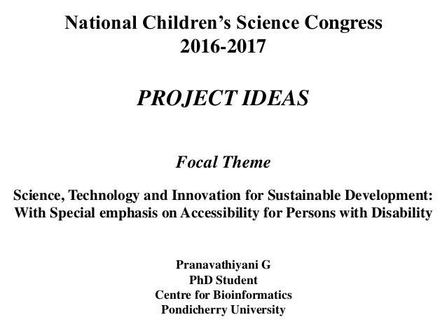 Project ideas   NCSC 2016 17