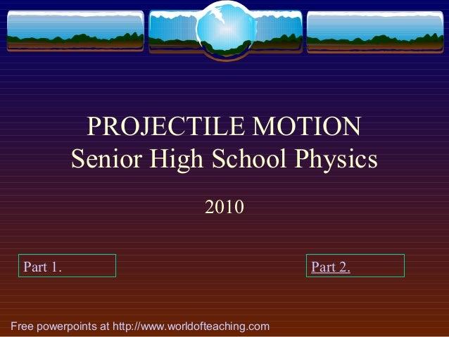projectile motion essay