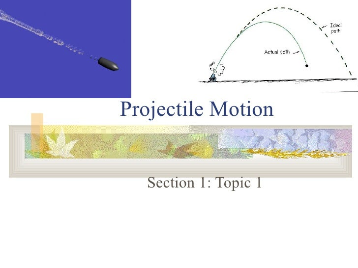 Projectile Motion Section 1: Topic 1