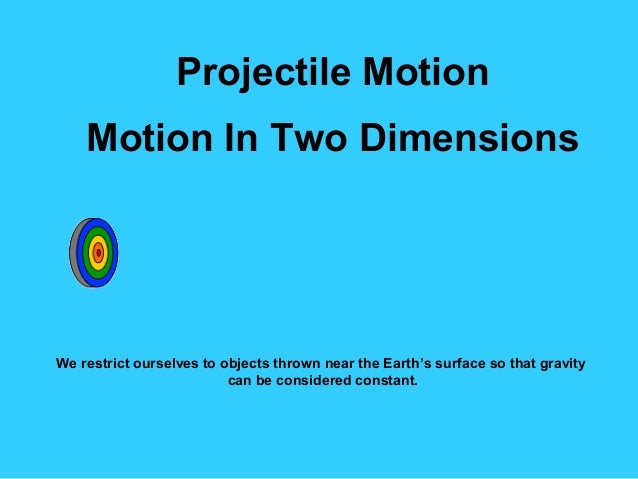 Projectile motion Grade 9