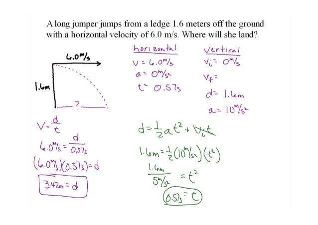 projectile motion practice problems with answers pdf