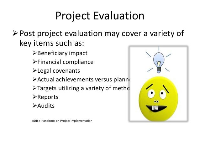 Project Implementation – Project Evaluation