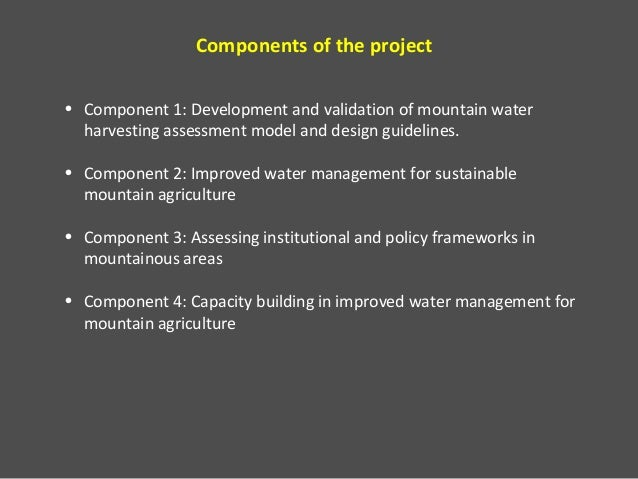Project improved water management for sustainable mountain agriculture jordan, lebanon and morocco  Slide 3