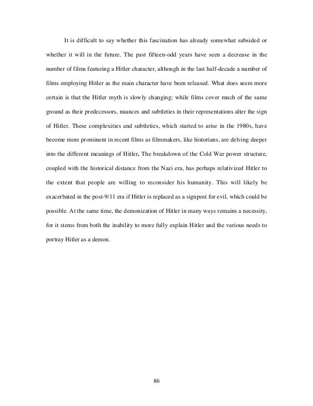 Projecting h itler   representations of adolf hitler in english language gilms