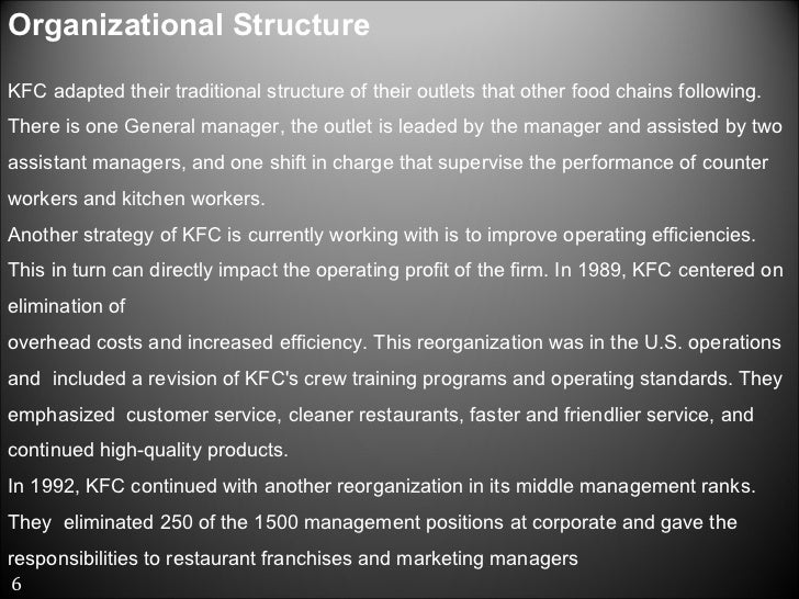 Kfc Project In Hbo on Pepsico Organizational Structure Chart