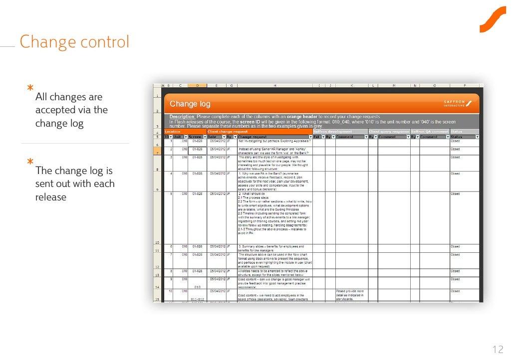 Change Log Template Image Slidesharecdn Com Projectinitiationtemplate
