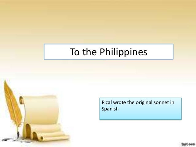 education gives luster to the motherland by jose rizal essays and There is no known study made about the anglo-american ideas found in jose rizal this study looks into rizal's poem education gives luster to the motherland and.