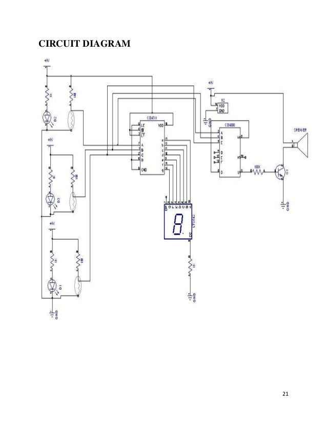 project intrusion alert circuit diagram 21