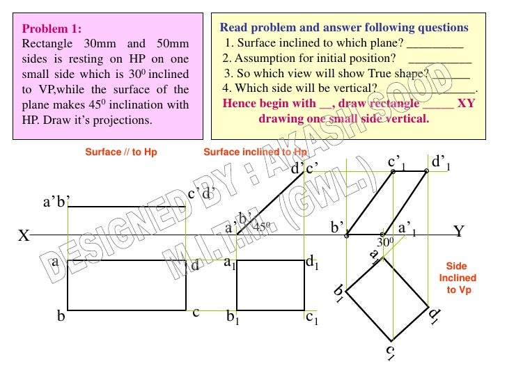 Problem 1:                                Read problem and answer following questionsRectangle 30mm and 50mm              ...