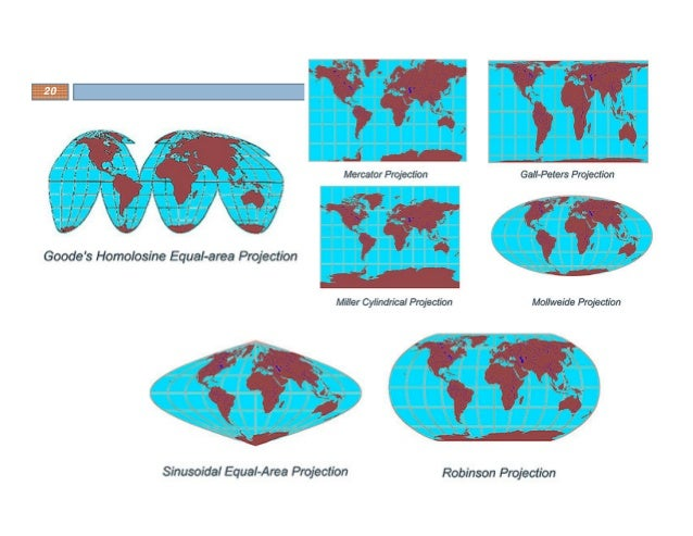 different types of map projections A map is a representation of a place there are many different types of maps that have different uses projections: maps are called projections because map-makers have to project a 3-d surface onto a 2-d map.