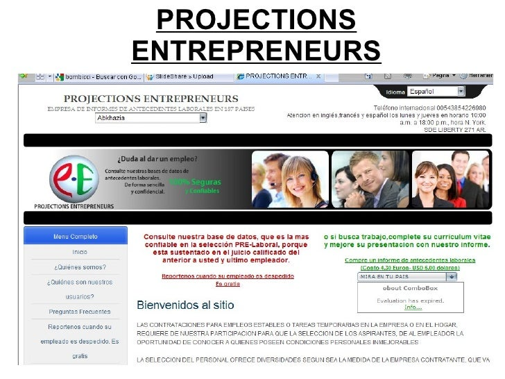PROJECTIONS ENTREPRENEURS