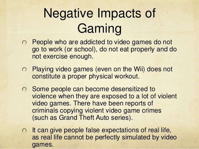 perceived effects of video game addiction Investigate the positive and negative effects of video games on youth and  children  keywords: video games, video game addiction, entertainment,  violent  behavior is often viewed as an unwanted facet of the afflicted.