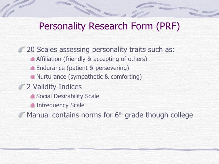Projective Techniques And Other Personality Measures