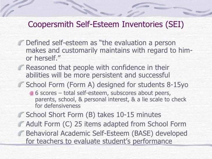 coopersmith self-esteem inventory short form pdf