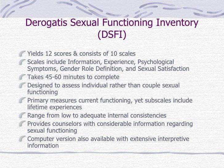 Derogatis sexual functioning inventory