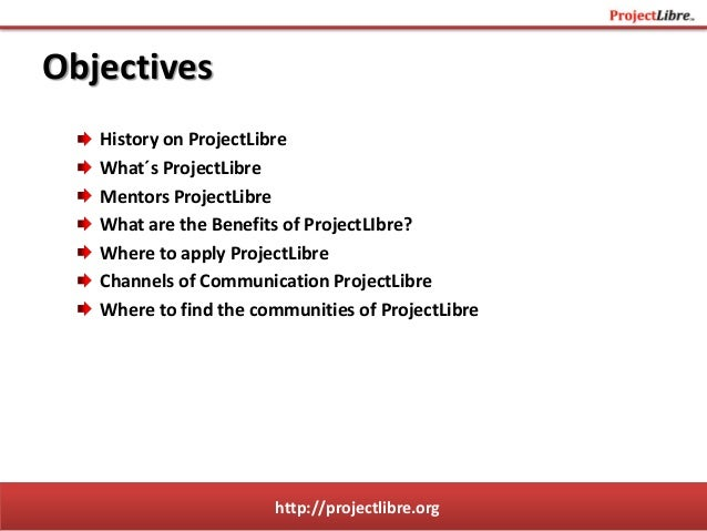 ProjectLibre 1 5 - Lesson 1 - Presentation of the initiative