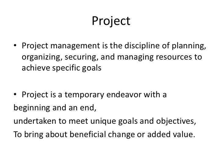 Project Llifecycle