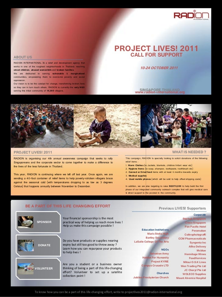 PROJECT  LIVES!  2011ABOUT  US                                                                                            ...