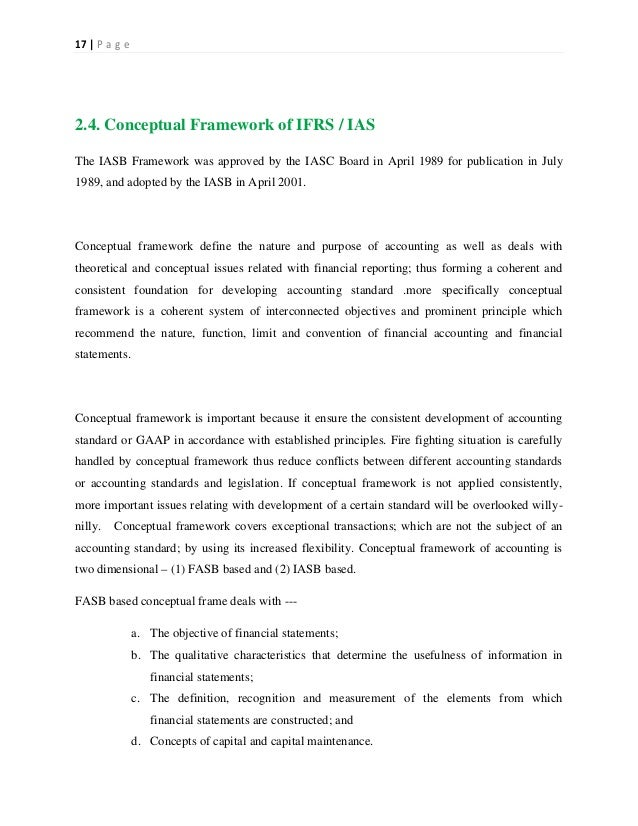 an analysis of the overall objective of an international accounting standard The initiative for harmonization of the indian accounting standards with ifrs,  taken up  therefore, the main objective of ifrs development is harmonization  in  and a cost/benefit analysis of whether or not under the particular  circumstances,.