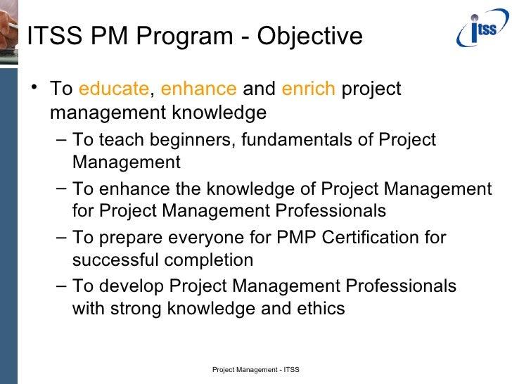 Project Managment Program Slide 3