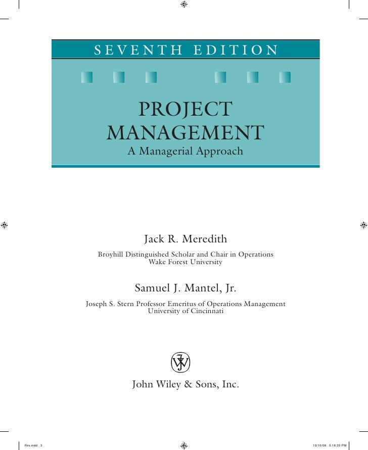 4 managing project to project and Chapter 4 research project management this chapter describes the process for managing research projects in mdot's spr, part ii, program management tasks are primarily carried out by members of the research advisory panel designated to each project.