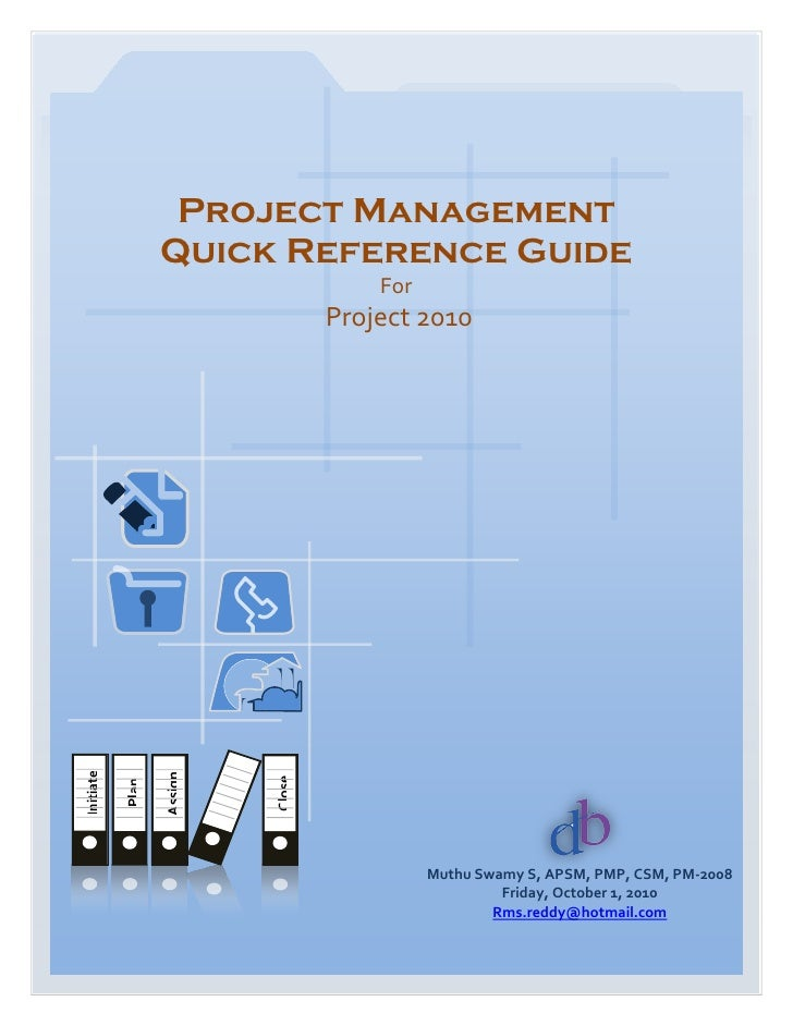 Project Management                  Quick Reference Guide                                       For                       ...