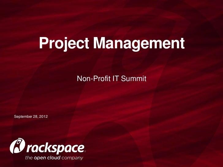 Project Management for Non Profits