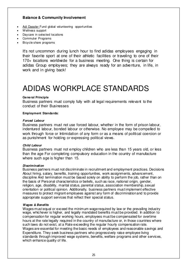adidas project report Synopsis adidas - world of sports as well as information on contracts, tendering and key project contacts the adidas - world of sports adidas headquarters expansion reportbuyer's team did their best to ensure that i felt comfortable before making the investment to purchase the report.