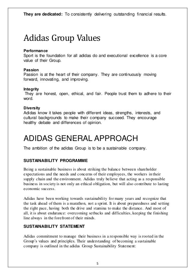 adidas implementation plan Project implementation plan contents: project status and  project  costs need to stay within the budget allocated for adidas' customized line.
