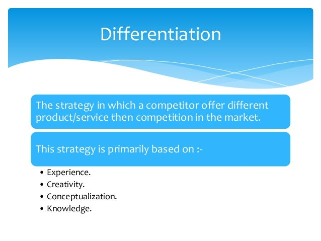  Primarily focuses on Segment of the market & whether this segment is profitable on not.  It's a combination of Cost-Lea...