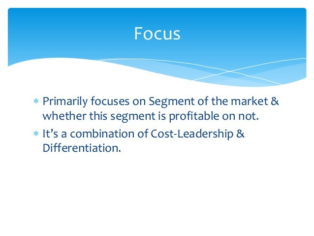  Khokar Hotel strategy is not a true Cost-leadership strategy.  Not a pure Differentiation strategy.  Some what focus s...