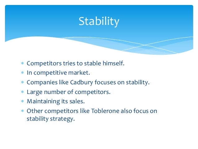 Strategy in which the competitor only focus on growth.  Growth for example sales growth , profit growth.  Companies li...