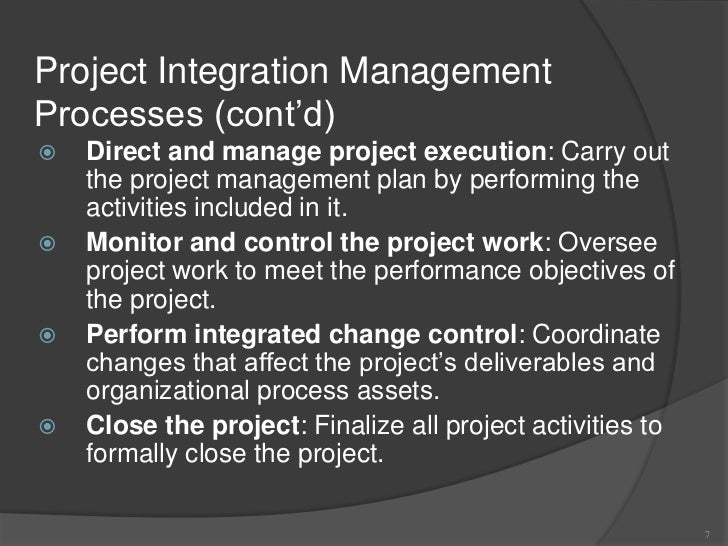 project management chapter 4 q7 Using mis 2e chapter 7: business process management david kroenke  chapter 4 managing risk with  chapter 3: the project management process groups:.