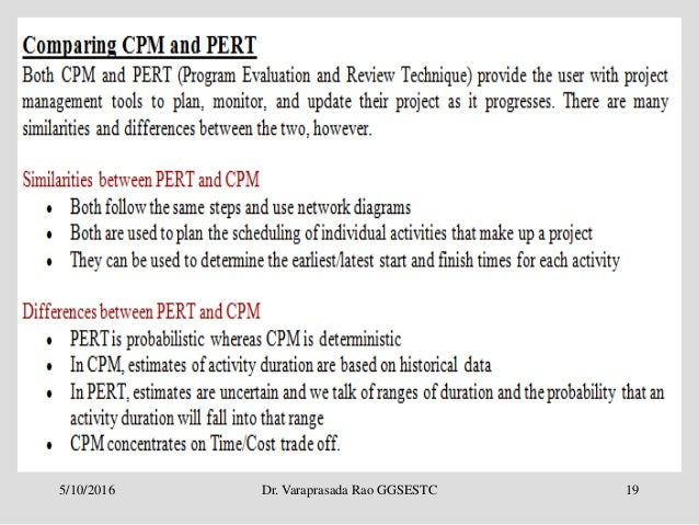 Project Management Cpm Pert