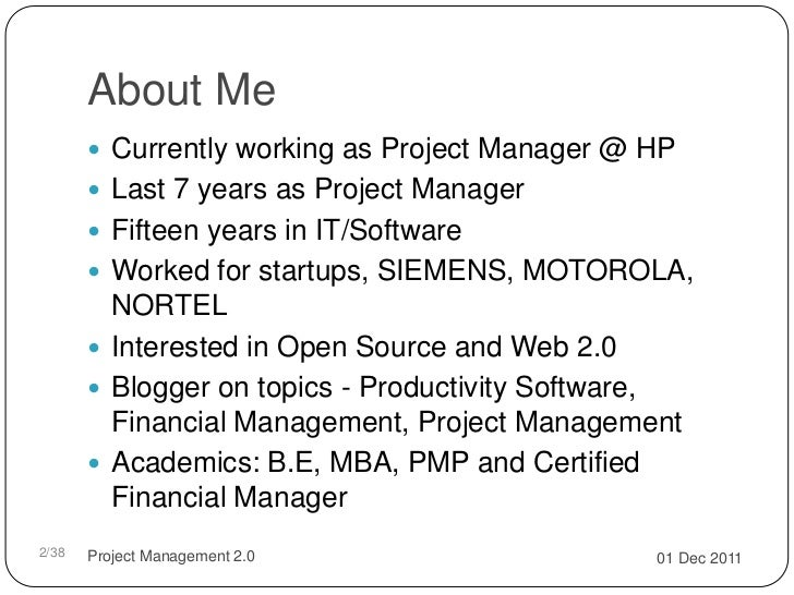 Project management 2.0 Slide 2